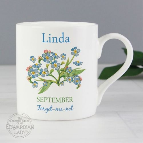 Country Diary 'September Flower Of The Month' Balmoral Mug